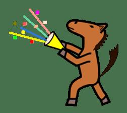 Everyday horse sticker #171134