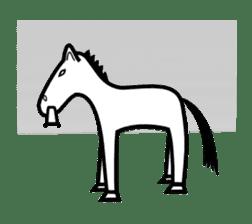 Everyday horse sticker #171142