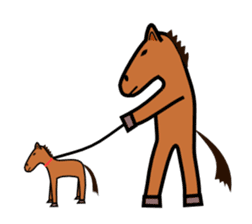 Everyday horse sticker #171158
