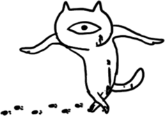 Monoeye cat sticker #171170