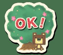 Shikakuma-chan and Marukuma-chan sticker #171202