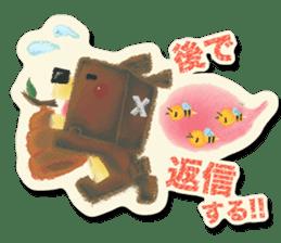 Shikakuma-chan and Marukuma-chan sticker #171213