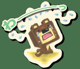 Shikakuma-chan and Marukuma-chan sticker #171224