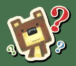 Shikakuma-chan and Marukuma-chan sticker #171225