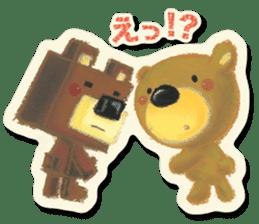 Shikakuma-chan and Marukuma-chan sticker #171229