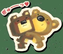Shikakuma-chan and Marukuma-chan sticker #171236