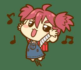Momo-chan diary sticker #172107