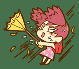 Momo-chan diary sticker #172112