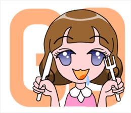 Daily Kumi-chan sticker #172946
