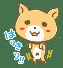 "The dog named ""MAMETA"" sticker #174408"
