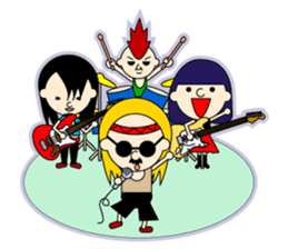 ROCK'N ROLL BAND sticker #175076