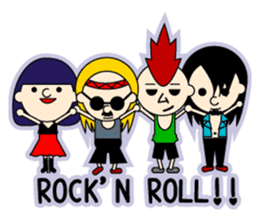 ROCK'N ROLL BAND sticker #175080