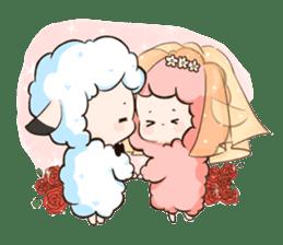 Fluffy sheep sticker #175241