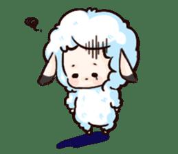 Fluffy sheep sticker #175242