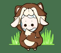 Fluffy sheep sticker #175244