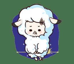 Fluffy sheep sticker #175246