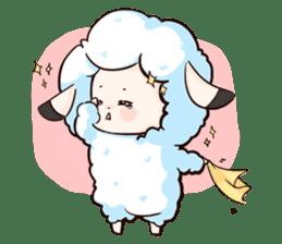 Fluffy sheep sticker #175250