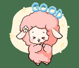 Fluffy sheep sticker #175251