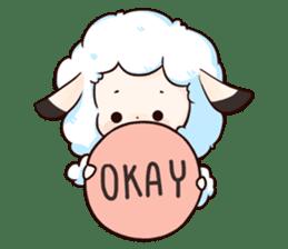 Fluffy sheep sticker #175254