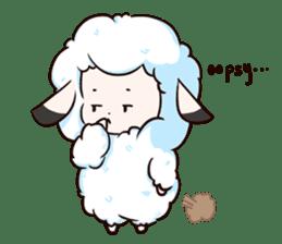 Fluffy sheep sticker #175256
