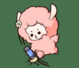 Fluffy sheep sticker #175257