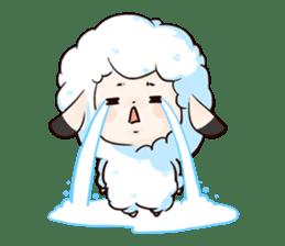 Fluffy sheep sticker #175258