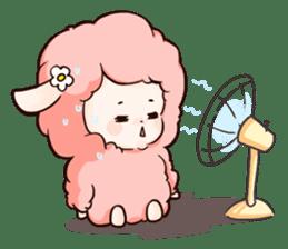 Fluffy sheep sticker #175259