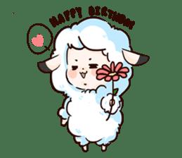 Fluffy sheep sticker #175261