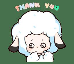 Fluffy sheep sticker #175263