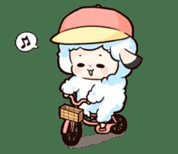 Fluffy sheep sticker #175274