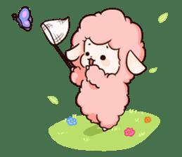 Fluffy sheep sticker #175275