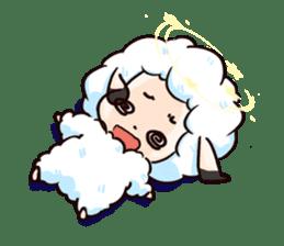 Fluffy sheep sticker #175276