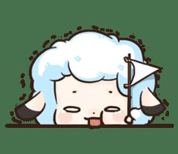 Fluffy sheep sticker #175278