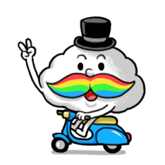 Mr.Cloud's Rainbow Moustache
