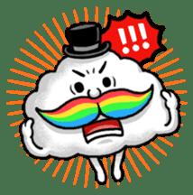 Mr.Cloud's Rainbow Moustache sticker #177121