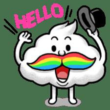 Mr.Cloud's Rainbow Moustache sticker #177130