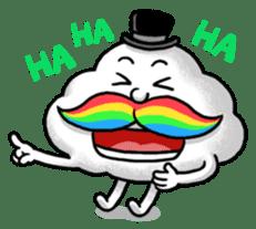Mr.Cloud's Rainbow Moustache sticker #177135