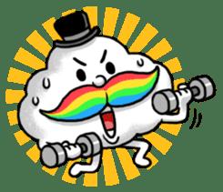 Mr.Cloud's Rainbow Moustache sticker #177137