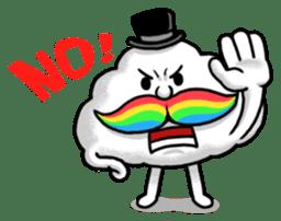 Mr.Cloud's Rainbow Moustache sticker #177143