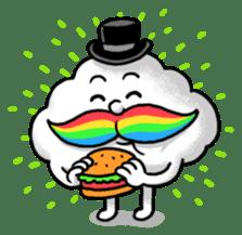 Mr.Cloud's Rainbow Moustache sticker #177146