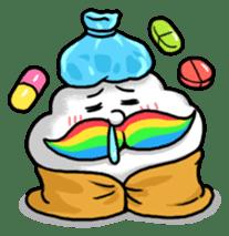 Mr.Cloud's Rainbow Moustache sticker #177150