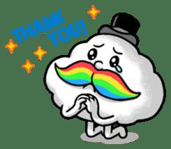 Mr.Cloud's Rainbow Moustache sticker #177155