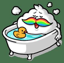 Mr.Cloud's Rainbow Moustache sticker #177157