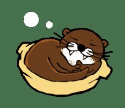 Chilling Otter. sticker #177362