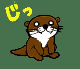 Chilling Otter. sticker #177363