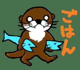 Chilling Otter. sticker #177367