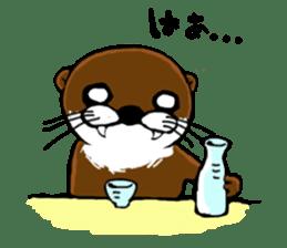 Chilling Otter. sticker #177368