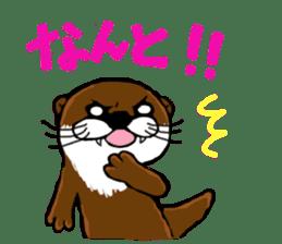 Chilling Otter. sticker #177369