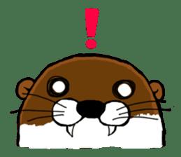 Chilling Otter. sticker #177373