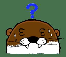 Chilling Otter. sticker #177374